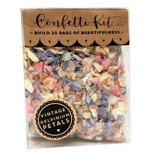 Delphinium Vintage Confetti Kit